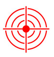red target icon on white background target icon vector image