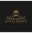 rp letter initial luxurious brand logo template vector image vector image