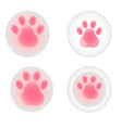 set of very cute pink vector image vector image