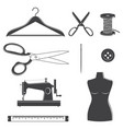 set sewing dressmaking and tailoring equipment vector image