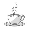shadow coffee cup cartoon vector image vector image