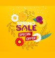 spring sale advertising banner special offer vector image vector image