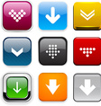 Square color download icons vector image vector image