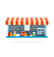 street cafe fast food flat isolated vector image vector image