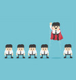 super businessman leader in front of his group vector image
