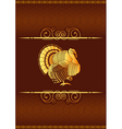 thanksgiving turkey background vector image vector image