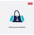 two color female black handbag icon from fashion vector image vector image