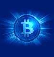 virtual bitcoin digital currency consist of binary vector image vector image