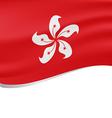 Waving flag of Hong Kong isolated on white vector image vector image