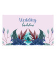 wedding ornament floral and herbs greeting card or vector image vector image