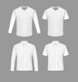 white shirt and t-shirt mockup set vector image