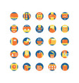 work office flat icon set vector image