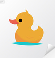 Yellow rubber duck Material design vector image vector image
