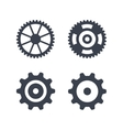 Machine gear wheel icons isolated on white vector image