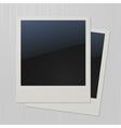 Two blank retro polaroid photo frames vector image