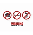 prohibition signs design vector image