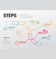 thin line steps progress timeline template
