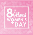 8 march womens day card bubbles background