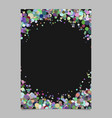 abstract blank confetti ring poster background vector image vector image