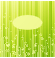 abstract green swirls vector image
