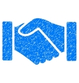 Acquisition Handshake Grainy Texture Icon vector image