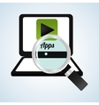 App design technology social media vector image vector image