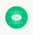 ar augmentation cyber eye lens white glyph icon vector image vector image