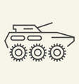 armored troop-carrier thin line icon armored vector image