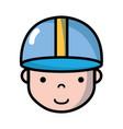 avatar man head with cap design vector image