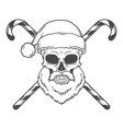 Bad Santa Claus biker with candies poster Heavy vector image vector image