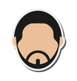 bearded faceless man portrait icon vector image vector image