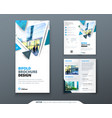 bifold brochure design blue template for bi fold vector image vector image