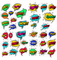 big set comic style speech bubbles with sound vector image vector image