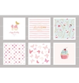 Birthday cards set for teenage girls Including vector image vector image