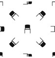 black office chair pattern seamless black vector image vector image