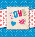 blue romantic multicolored composition vector image
