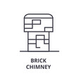 brick chimney line icon outline sign linear vector image