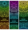 Bright asian decorative headers vector image vector image