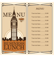 british menu vector image
