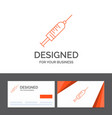 business logo template for syringe injection vector image