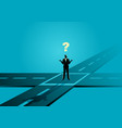 businessman standing at intersection vector image