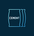 cement bags colored icon or symbol in thin vector image vector image