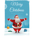 christmas background with santa claus cute vector image vector image
