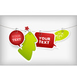 christmas hanging badges vector image