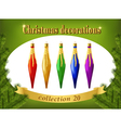 christmas ornaments collection decorative vector image