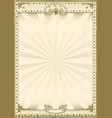 circus brown vintage background vector image vector image