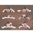 collection of a different ribbon roses vector image vector image