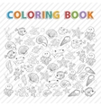 coloring bookMarine life vector image vector image
