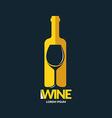 Concept wine logo vector image