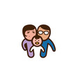 creative cute family couple symbol logo vector image